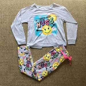 Girls size 8 pajama set from Justice